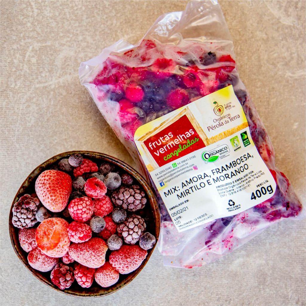 Frutas vermelhas - amora, framboesa, mirtilo e morango